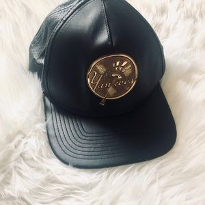 New York Yankees leather hat
